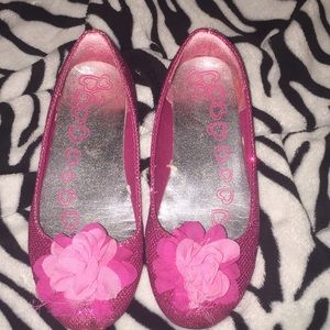 🦄Children's Place Pink Sparkly Slippers🦄